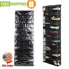 Door Organizer Shoe Storage Rack Over Hanging Hanger 26 Pocket Bag Space Saver@W