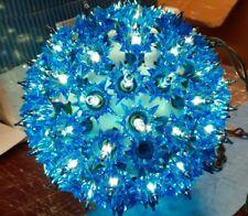 "Vintage GE Super Sphere 6"" W/100 BLUE Lights Christmas Globe Ball Hanging w/ BOX"