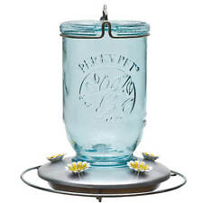 Perky Pet Glass Mason Jar 32 Ounce Hummingbird Nectar Feeder w/ Metal Base, 785