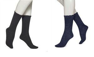 Hue Women's socks 3 Pairs socks lace trim wool blend boot socks