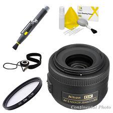 Nikon AF-s 35mm f/1.8G DX Nikkor Lens + 52mm UV Filter + 8 Pc Value Bundle