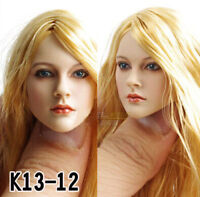 KUMIK 1//6 Girl Female Head Sculpt KM13-20 Long Straight Hair F 12/'/' Figure Toy