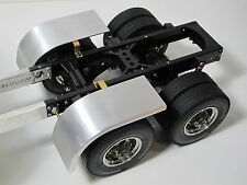 Custom aluminum Half fender Tamiya 1/14 Semi King Knight Hauler Scania Trailer