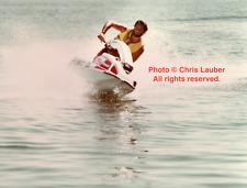 RARE, Vintage 8x10 Original Photo: Chris Lauber, Jet Ski Racing 1978 IJSBA
