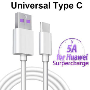 5A Type C USB-C Data Charging Cable Fast Charger For Samsung Huawei Universal 1M