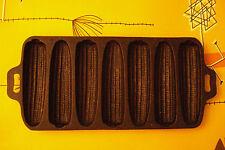 ANTIQUE/VINTAGE CAST IRON CORN BREAD PAN MOLD SHAPE LIKE 6 EARS OF CORN