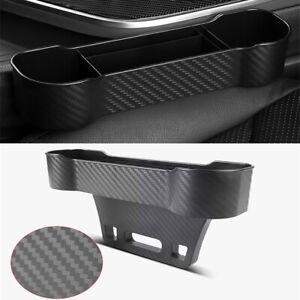 Car SUV Seat Gap Storage Pocket Organizer Holders Carbon Fiber Style Universal