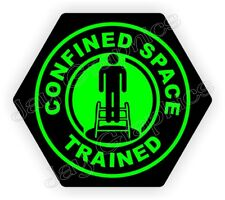 Confined Space Trained Hard Hat Sticker | Hexagon Safety Helmet Decal Label USA