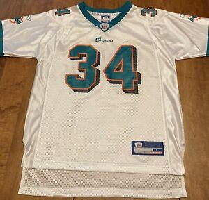 Ricky Williams Miami Dolphins Reebok NFL Jersey Boys Large (L) (14-16) #34