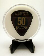 Ernie Ball 50th Anniversary Guitar Pick With MADE IN USA Display Case & Easel