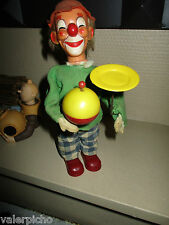 Clown Jongleur – Rarissime automate à clé – Jouet Carl? - Années 70