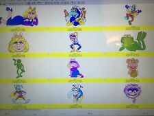 MUPPET CHARACTER EMBROIDERY DESIGNS CD IN PES/HUS/JEF/JEF+/DST & VP3