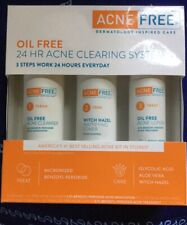 New Acne free dermatology inspired care oil free 24 hour acne clearing system