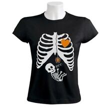 Pregnant Skeleton Halloween Costume Women T-Shirt BOY GIRL BABY maternity XL