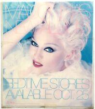 VERY RARE VINTAGE 1994 MADONNA BEDTIME STORIES ALBUM LAMINATED COUNTER DISPLAY