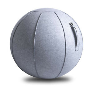 Vivora Luno Classic Felt Sitting Ball with Handle for Home and Office, Marble