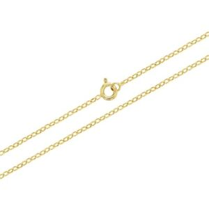 """18k Gold Plated Link Chain Necklace Unisex Girl Boy 16"""""""