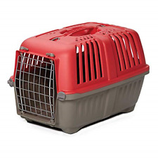 Pet Carrier: Hard-Sided Dog Carrier, Cat Carrier, Small Animal Carrier in Red| x