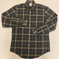 Brooks Brothers Non Iron Men Button Down Shirt Size M Long Sleeve 100% Cotton
