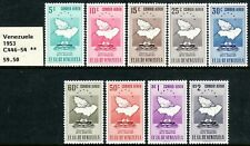 "1951 Venezuela ""Map of Delta & Ship"" Airmail complete set MNH Sc# C446 / C454"