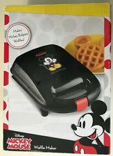 Mickey Mouse Belgian waffle maker Disney Black NIB