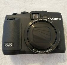 Canon PowerShot G16 Digital Camera W/WiFi Black 12.1MP - POWERS ON - LENS ERROR