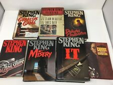 Lot Of 7 Classic Stephen King Novels Hardcovers W/ 1st Ed. 1st Print Of IT 1986