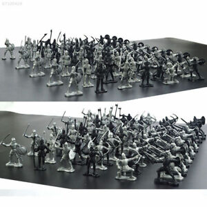 60pcs Medieval Knights Warriors Horses Soldiers Figures Model Playset Kids Toy S