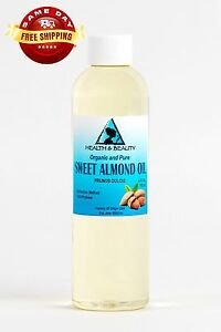 SWEET ALMOND OIL REFINED ORGANIC CARRIER COLD PRESSED 100% PURE 4 OZ