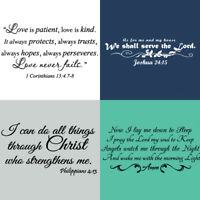 Bible Verse Vinyl Wall Decal Christ Scripture Sticker Art Religious Quote Decor