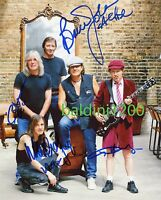 AC/DC SIGNED 10X8 PHOTO, GREAT STUDIO SHOT IMAGE, LOOKS GREAT FRAMED