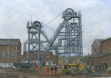 Darfield Colliery - 1861 - 1989 - Ltd Ed Print - Pit Pics - Coal Mining