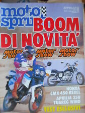 Motosprint 49 1986 Test Honda CMX 450 Rebel - Aprilia 350 Tuareg Wind