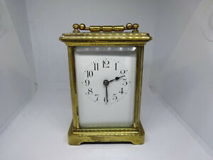 GOOD 1920S BRASS VINTAGE CARRIAGE CLOCK