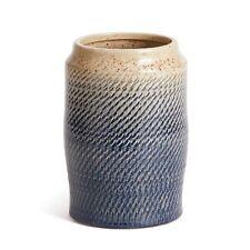 """Shadiya Vase 9"""" Blue White Ceramic Decorative Modern Farmhouse Coastal Decor"""