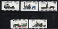 ESTADOS UNIDOS/USA 1987 MNH SC.2362/2366 Locomotives