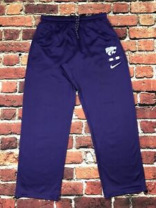 Nike Kansas State Wildcats Men's Dry-Fit Warm Up Pants Cinch Ankles XXL Tall