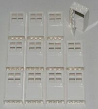 LEGO LOT OF 12 NEW WHITE THICK DOORS TOWN HOUSE CITY WINDOWS PARTS