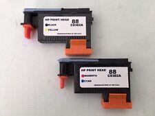 HP 88 Print Head 1Black/Yellow C9381A & 1Magenta/Cyan C9382A Ink Cartridges