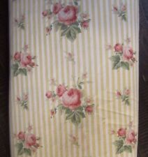 Ralph Lauren queen size Floral Sophie Yellow white Stripe Rose flat Sheet