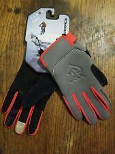 Cycling Full Finger Gloves Race Face Agent Winter Gray Orange Large