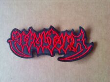 SEPULTURA,SEW ON RED EMBROIDERED PATCH