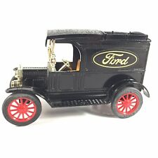 Vintage ERTL 1913 Model T Ford Van Replica Coin Bank Yellow Logo