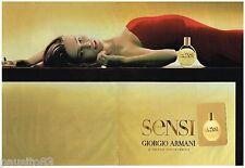 PUBLICITE ADVERTISING 105  2002  GIORGIO ARMANI  parfum femme ( 2pag) SENSI
