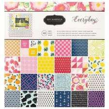 American Crafts Pebbles Jen Hadfield Everyday 12 X 12 Inch 48 Sheet Paper Pad