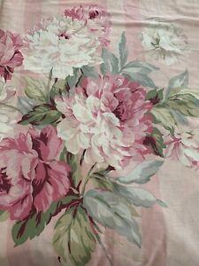 Vintage Martex Pink Rose Ticking Stripe Reversible Duvet Cover Queen Cotton