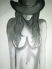 Aktzeichnung #145 Frauenakt Nude Drawing Erotik Bleistift A4/femme nu dessin
