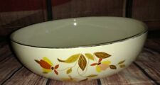 Autumn Leaf Round Salad Bowl Serving Dish 2 Quart 9 inch Jewel Tea Co Halls Vint