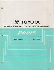 TOYOTA Prius NHW11 (2000) originale della fabbrica Carrozzeria Riparazione Manuale