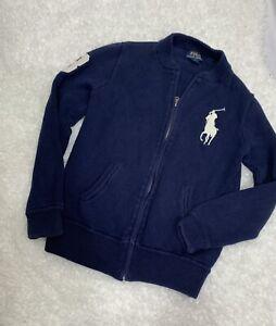 Polo Ralph Lauren Sweater Zip Jacket Youth Size L (14/16) Navy Blue